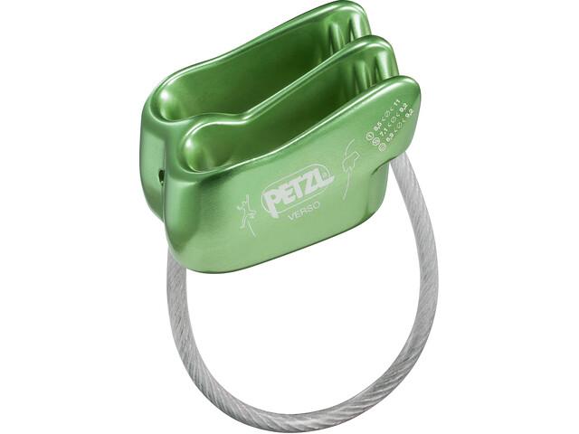 Petzl Verso Dispositivo asegurador, green